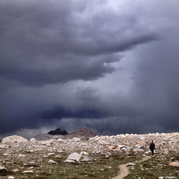 Threading the needle between storms on Muir Pass